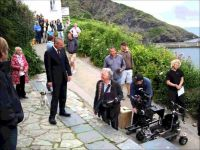 Doc Martin  filming  at Port Isaac