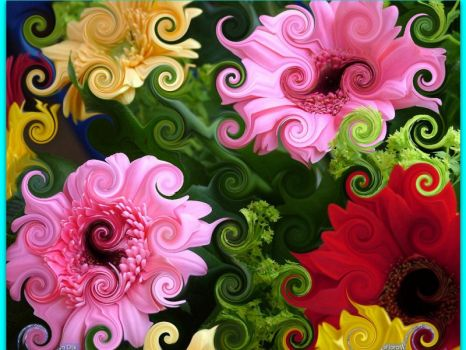 Curly flowers