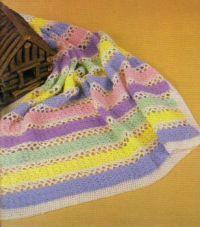 Pretty Pastels Crocheted Baby Blanket