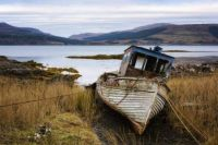 Shipwreck on the isle of mull