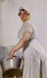 "Anders Zorn, ""A Kitchen Maid"", 1919"