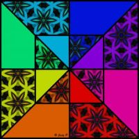 Colorful Boxed Triangles (XL)