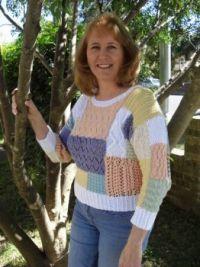 Orginal knit patchwork sweater