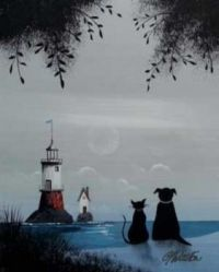 lighthouse ... and black cat