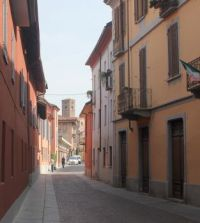 Street in Alba, Piemonte, Italy