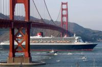 Queen Mary 2 on her first visit to San Francisco