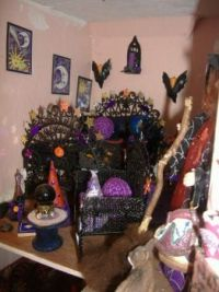 12th Scale Dolls House - Turrets Witch House - Juniper's Astrology Room - Left Side (Largest)