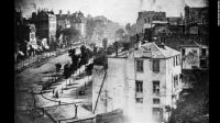 1838 oldest know photo of human, Boulevard Du Temple Paris street by Louis Daguerre