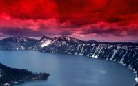 crater-lake-landscapes-nature-desktop-red-sky