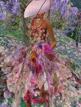 Dress of many flowers