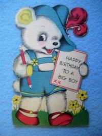 Vintage Big Boy Birthday Card