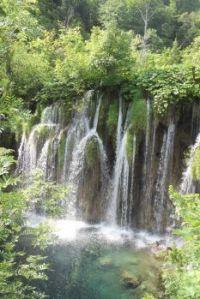 Cascading falls at Plitvice Lakes, Croatia.