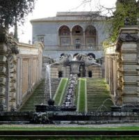 Gardens of the Palazzo Farnese at Caprarola (North of Rome)