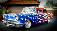 1957 Chevy red, white, and  blue...  Bandit