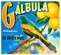 Themes Vintage ads - label orange galbula circa1940