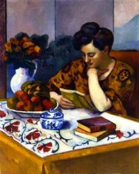 Lady Reading  - Henri-Manguin-