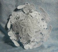 3-D Lace Embroidered ornament!