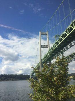 WA Clouds Over the Tacoma Narrows and the Narrows Bridge