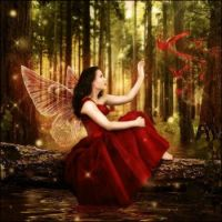 fairy in red