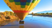 """Ready for a """"touch and go"""" during a Hot Air Balloon ride"""