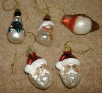 Seasonal - Christmas Tree Trims - Small Glass