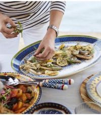 Serving Pieces-Sicilian Pattern Dishes