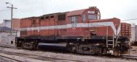 Wabash and Erie RR. ALCO C420 310 at Defiance, OH. April 1996
