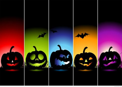 Halloween-colorful background