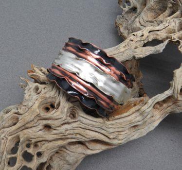 Gentle Waves Cuff bracelet by Alene Geed