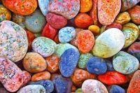Colorful stones rocks pebbles