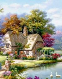 Cute cottage with pond!