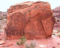 """Birthing Rock"", rock art, Moab, Utah."