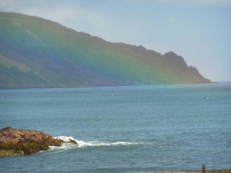 Rainbow coloured hills Antrim Coast N.I.