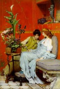 """Confidences"" 1869-Sir Lawrence Alma-Tadema"