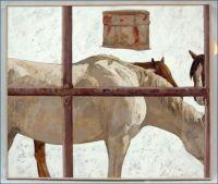 Ed Gate with Horses #2 - Susan Hertel