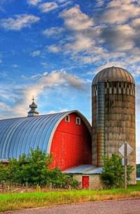Red Barn and Silo...