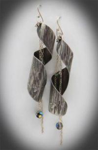 Sacred Spiral Sterling silver earrings