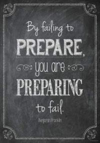 By failing to prepare
