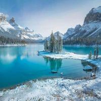 Spirit Island-Jasper, Alberta, Canada