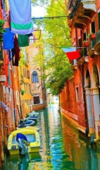 Colorful Canal in Venice