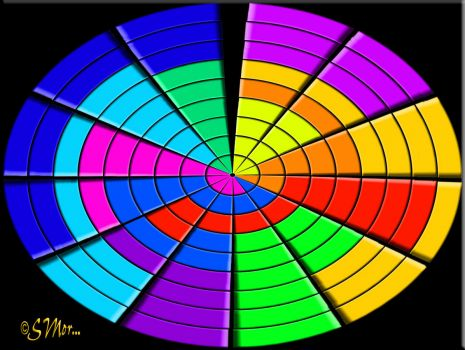 WEEKLY THEME: Round and Oval Things ...  Crazy Oval Color Wheel....  (SM)...