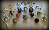 Crafts - Dolls Houses - 12th Scale Witch Halloween Wand Vases / Hat Pins Displays (Small)