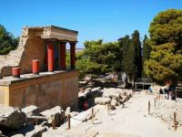 Knossos is the largest Bronze Age archaeological site on Crete