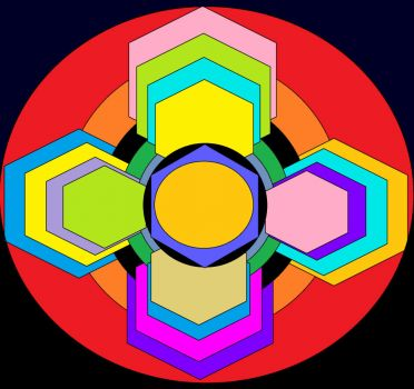 Circles And Hexagons (Smaller)