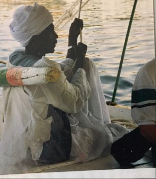 Felucca sailor on the Nile.