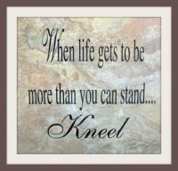 When to Kneel