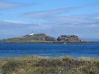 Fidra lighthouse and island