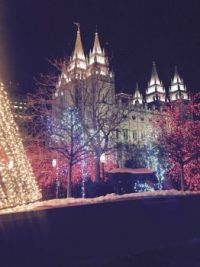 Mormon Temple Beautiful Christmas Lights