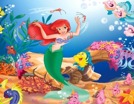 Little Mermaid having fun