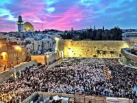 Jerusalem, Israel. Temple Mount and the Western Wall during The Priestly Blessing.